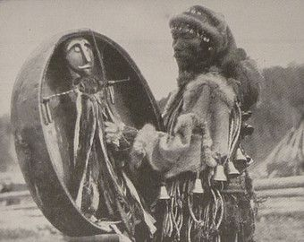 Vintage 1930s photo of an Altai Shaman