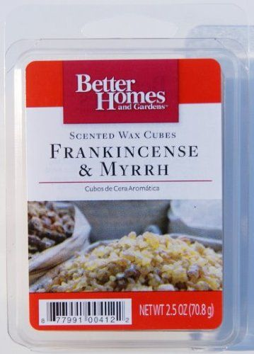 Topseller better homes and gardens frankincense myrrh wax cubes home sweet home for Better homes and gardens wax melts