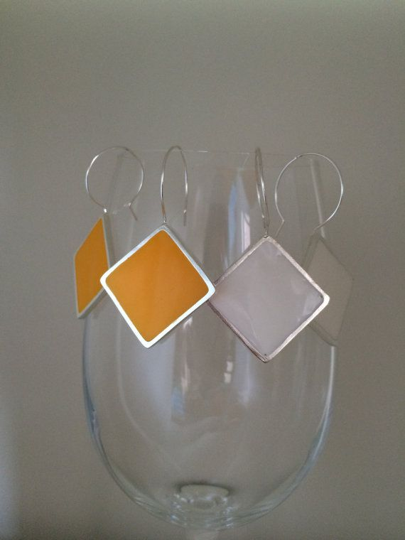 Sterling Silver + Resin earring