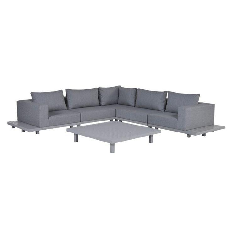 Borro loungeset 6-delig - licht grijs