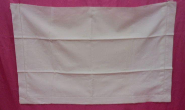 Federa cotone ricamo punto pieno fiorellini Cm. 85x53 B1  Cotton pillowcase