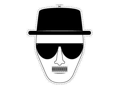 5월의 TEN 콜렉션 아티스트 마이크 해리슨의 하이젠베르그 마스크(브레이킹 배드)!      Mike Harrison  I'm a massive fan of the series Breaking Bad so decided to pay homage to one of the characters from the show and design this mask.