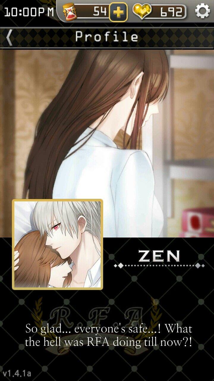 Mystic Messenger Zen S Profile Just Love It Pinterest