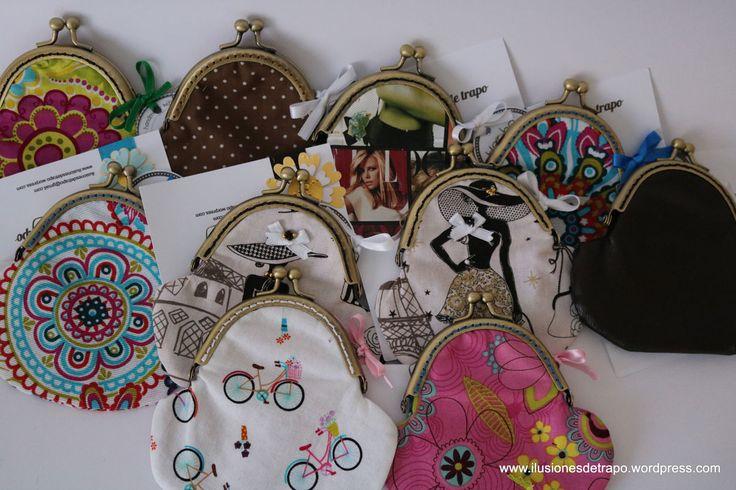 monederos con boquilla www.ilusionesdetrapo.wordpress.com