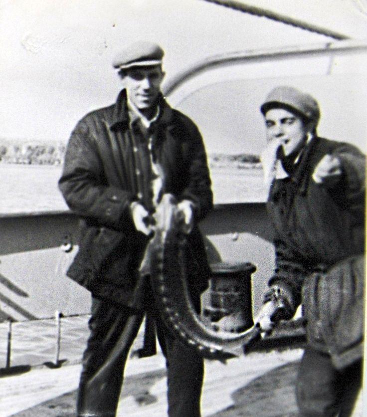 اتحاد الجمهوريات الاشتراكية السوفياتية. صورة قديمة. البحارة بحر قزوين.