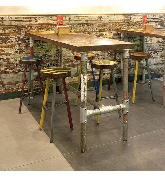 aged square scaffold tableindustrial colourful from hill cross the kaleidoscope range is a