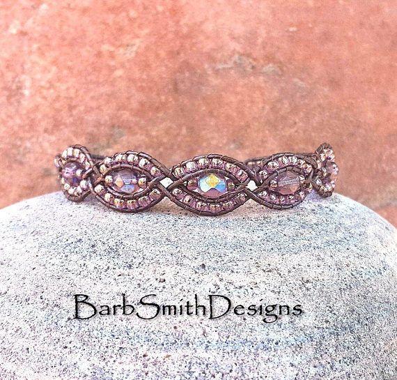 Purple Amethyst Copper Leather One Wrap Bracelet  The Mystic