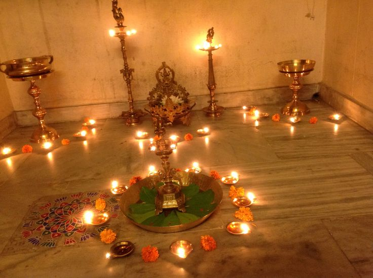 Diwali puja decorations pinterest diwali for Room decoration ideas in diwali