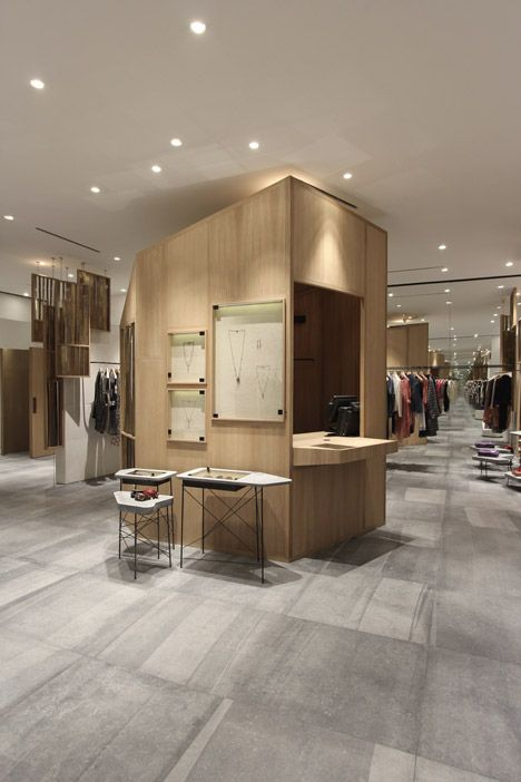 Ciguë builds a wooden cabin in the middle of Isabel Marant's Shanghai boutique.