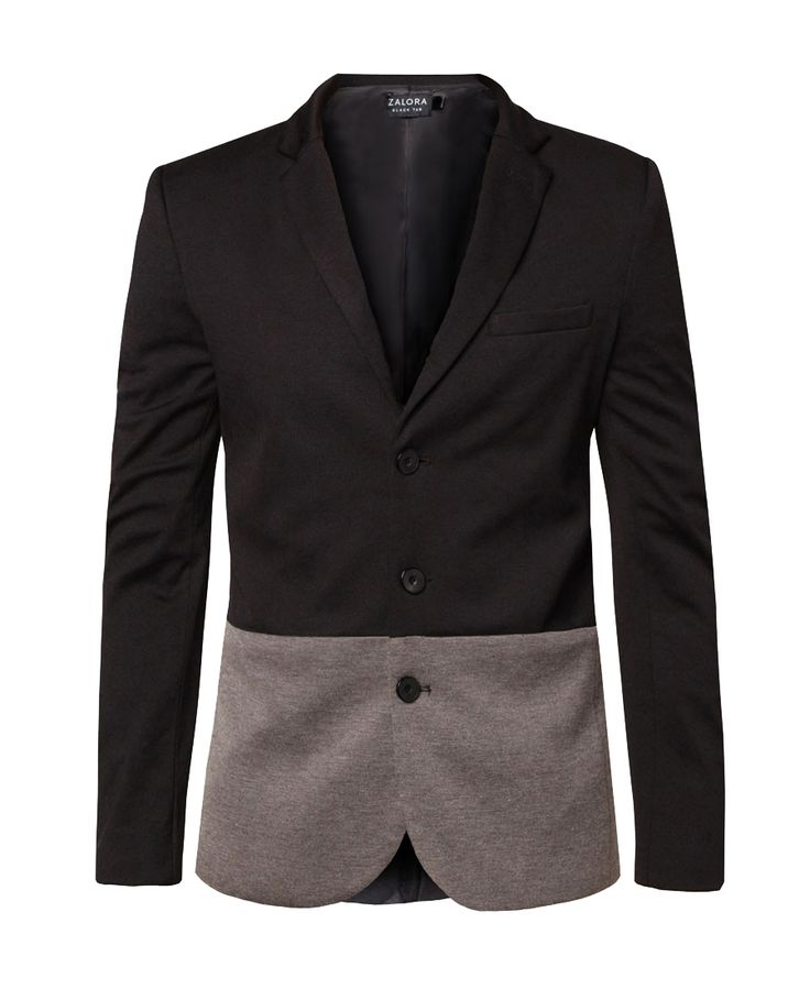Colour Blocking Blazer by Zalora. Blocking blazer come with dual tone concept, v neck, open front, long sleeve, front pocket, inner linning, slimfit blazer made from good material, perfect for formal and casual occasion.    http://www.zocko.com/z/JJ4FZ