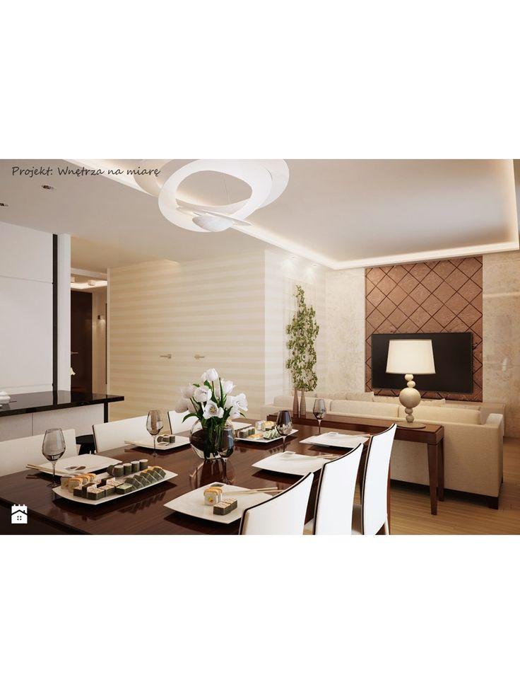 Aranżacje wnętrz - Salon: Mieszkanie na Wilanowie - Salon - Wnętrza na miarę. Przeglądaj, dodawaj i zapisuj najlepsze zdjęcia, pomysły i inspiracje designerskie. W bazie mamy już prawie milion fotografii!
