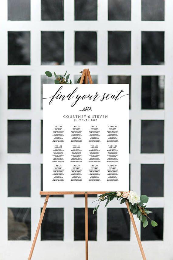 Wedding Seating Chart Printable Table Seating Plan Template
