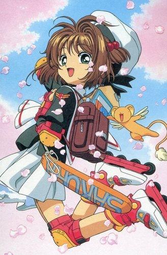 Cardcaptor Sakura CLAMP postcard official Japan Kinomoto Sakura Keroberos