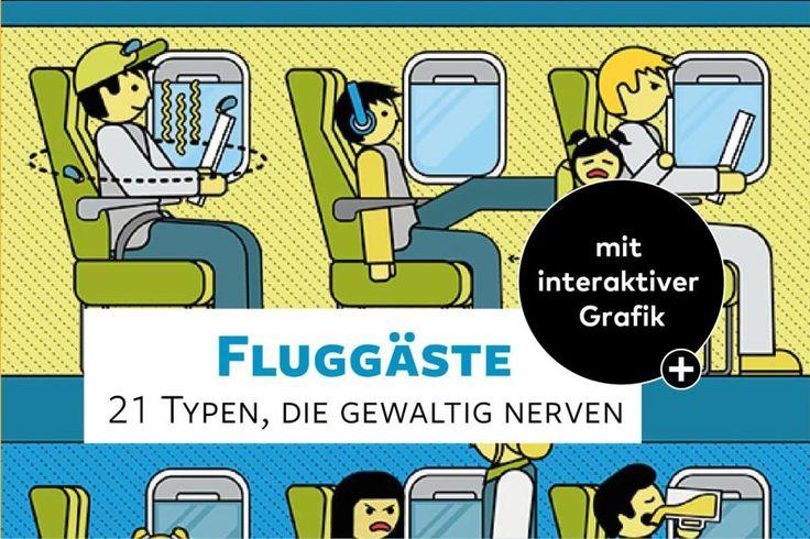 """Quasselstrippen, Flugangstgeplagte, Menschen, die über die Lehne """"schwappen"""": Das eigentlich Nervige an langen Reisen mit dem Flugzeug sind die Mitreisenden. Jedenfalls manche."""