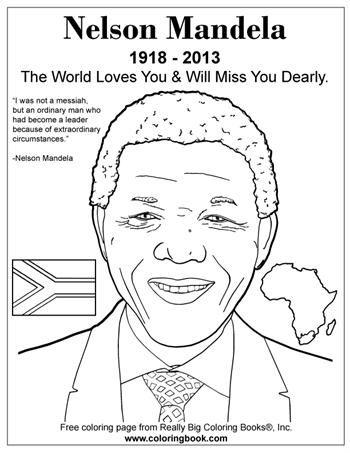 Nelson Mandela - Free Online Coloring Pages | Nelson mandela ...
