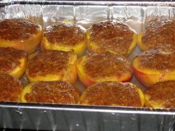 pesche al forno con amaretti