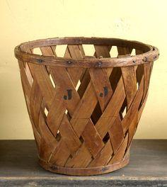 Antique peach basket