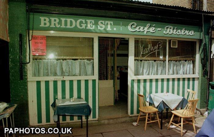 EastEnders // 13/7/98 THE BRIDGE STREET CAFE ON THE EASTENDERS SET AT BBC ELSTREE.