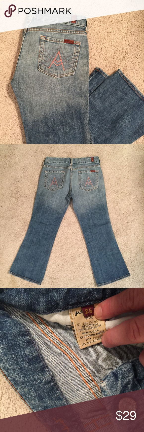 7 For All Mankind Woman's Crop Jeans 7 For All Mankind Woman's Crop Jeans 7 for all Mankind Jeans Ankle & Cropped
