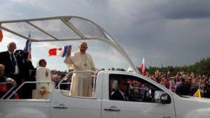 Le Pape François à Cracovie, JMJ 2016, © Points-Cœur