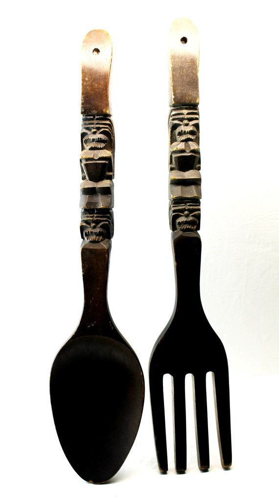 large wooden fork and spoon forks and spoons pinterest. Black Bedroom Furniture Sets. Home Design Ideas