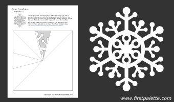 Paper snowflake template 1