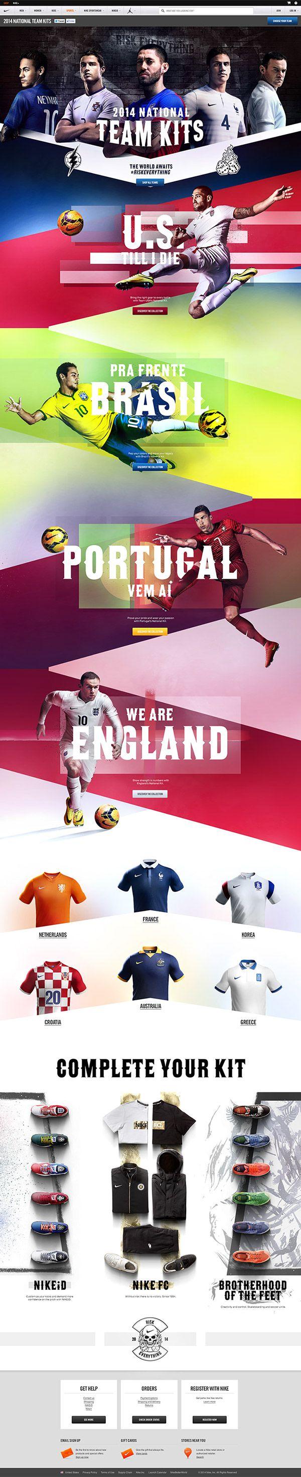 Nike National Team Kits 2014 on Behance