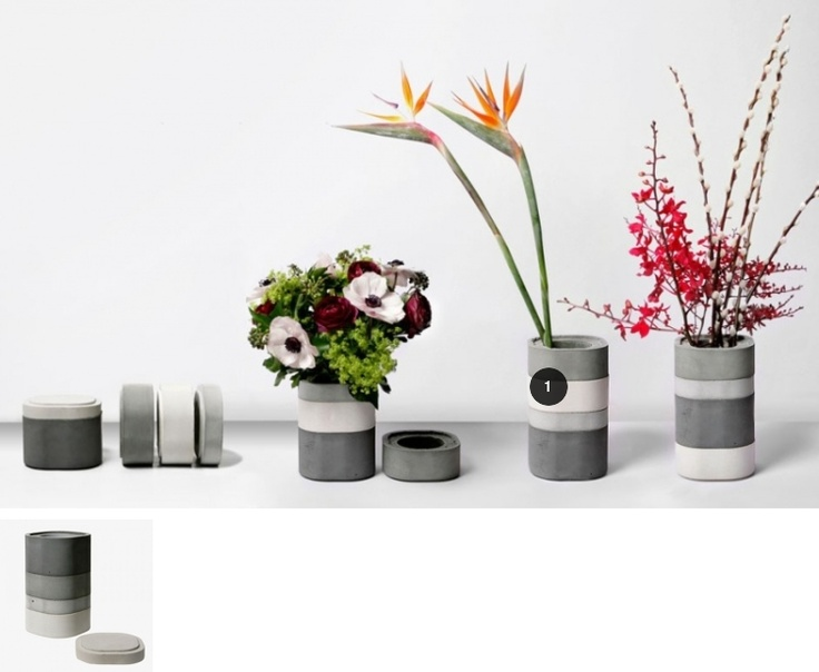 Bento box inspired concrete vase, or, if you prefer, desk storage