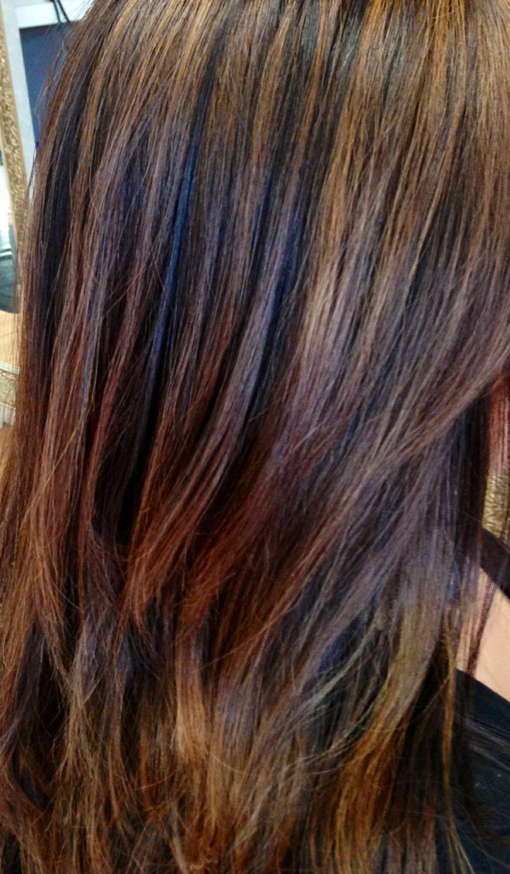 Caramel Highlights Paula Tracy Hair Design Transition To