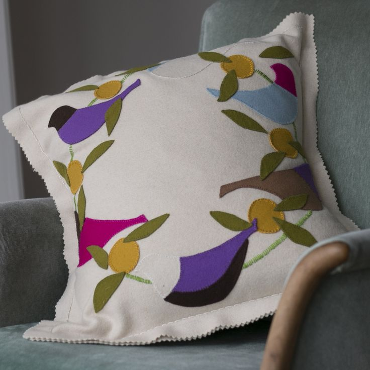 Cheery lilac roller cushion kit from birdiebrown.co.nz