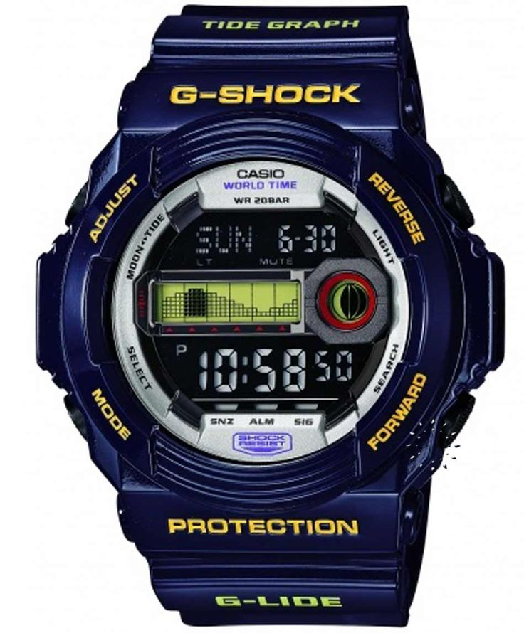 CASIO G-Shock Dark Blue Rubber Strap Τιμή: 135€ http://www.oroloi.gr/product_info.php?products_id=34546