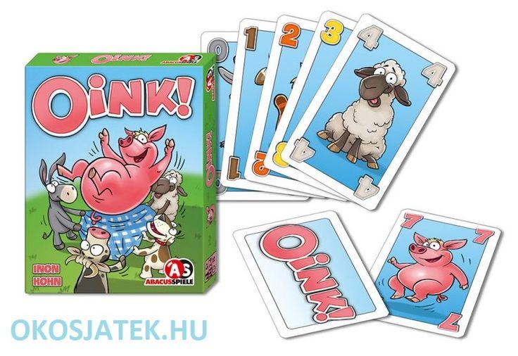 Röf Röf Oink pörgős, gyors, vidám malacos kártyajáték