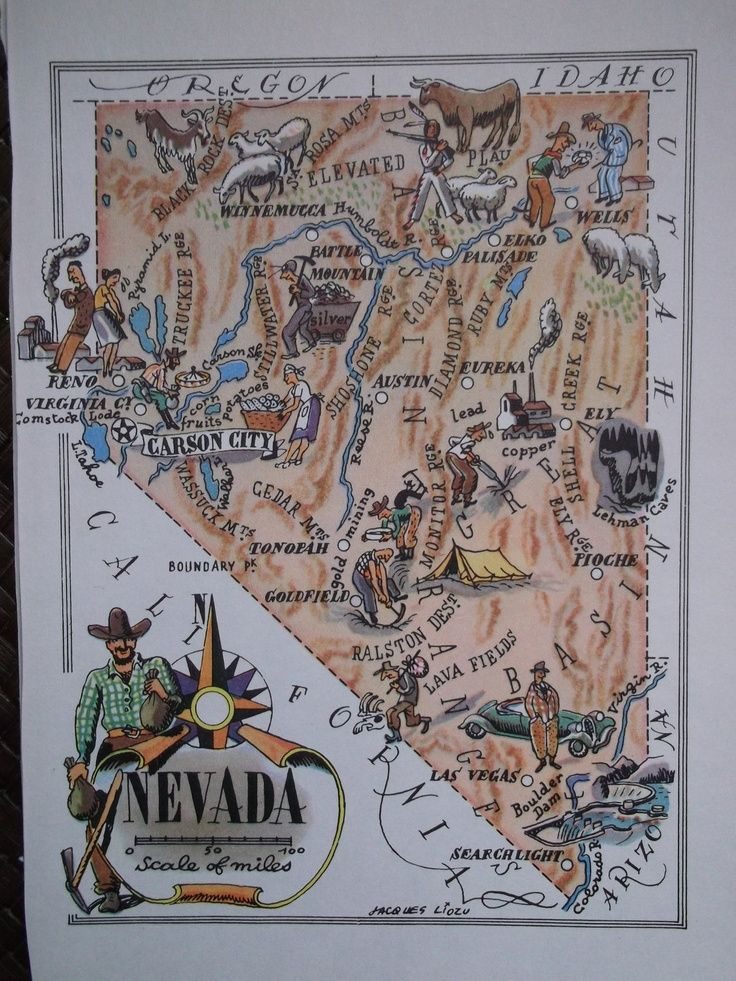 Very fun map of NEVADA from Colorful