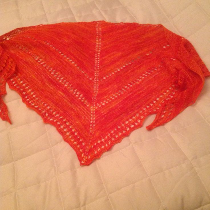 Merino wool shawl knitted by me