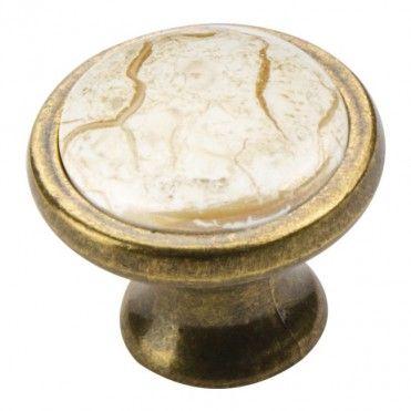 Gałka Schaffner porcelanowa marmur