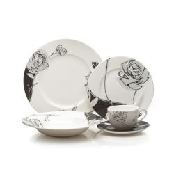 Black White Square Dinnerware  sc 1 st  Pinterest & 15 best Black And White Dinnerware images on Pinterest | Dish sets ...
