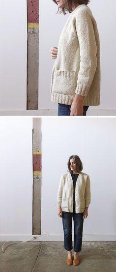 Vanilla cardigan (free knitting pattern)