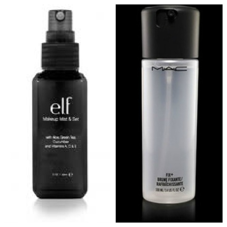 "Mac setting spray for $20     I may need to try this pinners tip...    ""get elf setting spray at TARGET for only $3"""