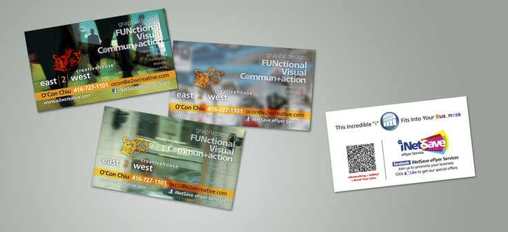 my new bizcards, with 3 various background images