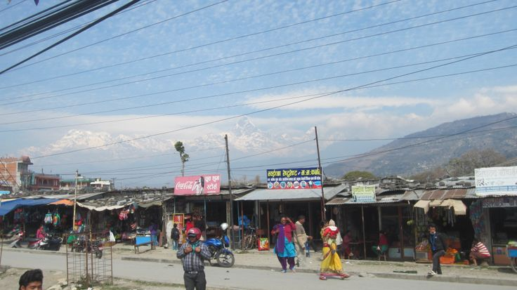 the day by day life in Pokhara, the second biggest city in Nepal