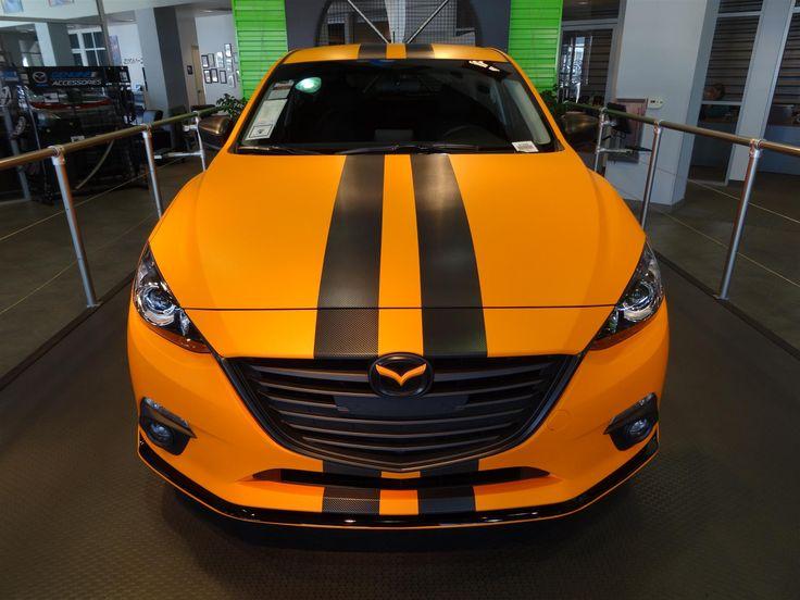 2015 Mazda 3 Touring - For Sale in Riverside, CA  - #mazda #riversidemazda #mazda3 #orange #bodywrap #carbonfiber #customwheels - Photo #41681
