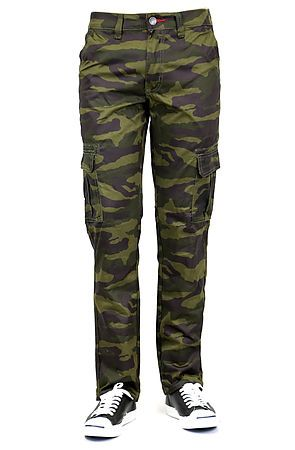 Bleu Evolution MENS CAMOUFLAGE PRINT TWILL CARGO PANTS