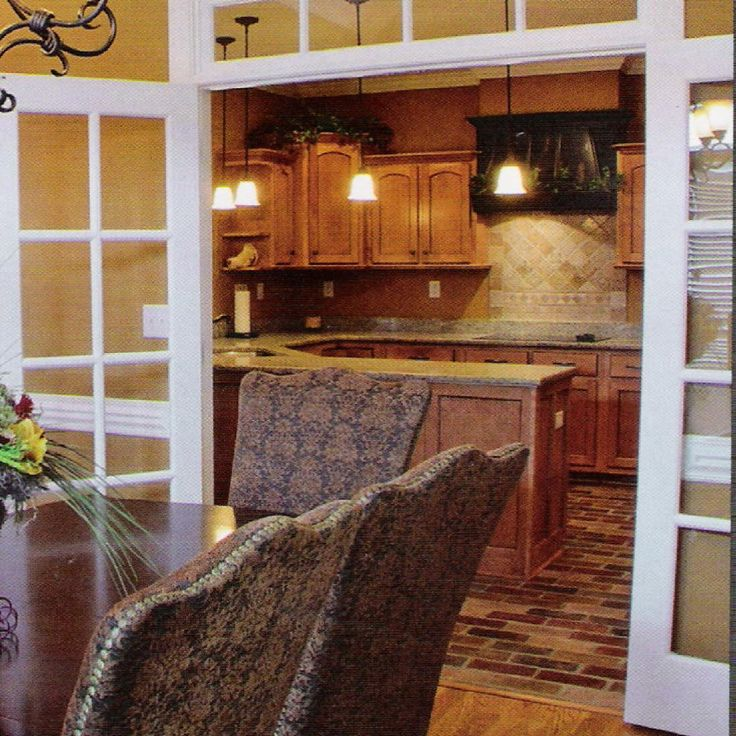 Love The Brick Pavers In The Kitchen And Also The Entry Into The Kitchen. I