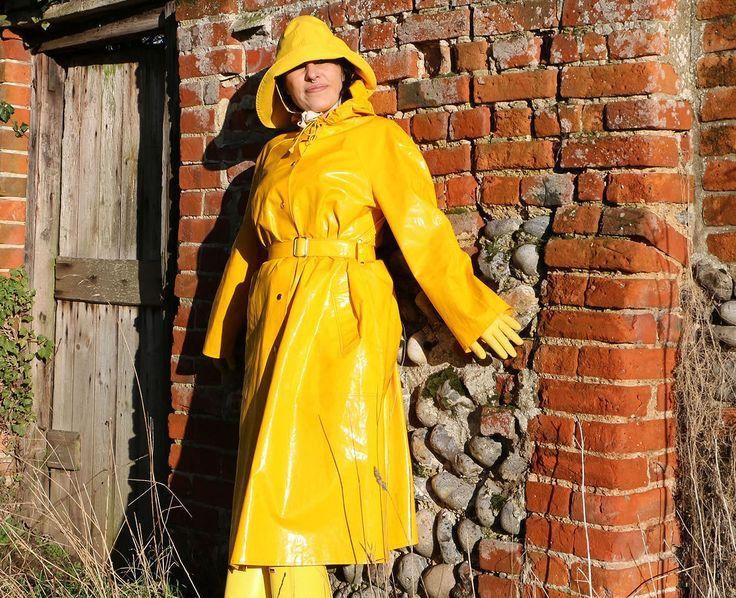 Yellow Pvc Raincoat Amp Hat Regenmantel Regenjacke Und