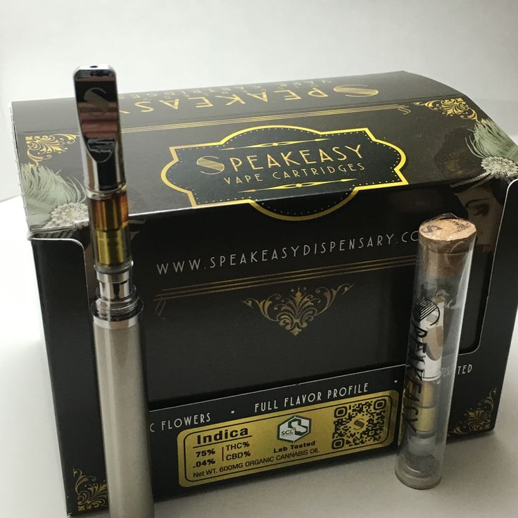 SpeakEasy Vape INDICA Cartridges 600 MG organic cannabis oil Speakeasy glass cartridges are the ultimate oil atomizer, no other cartridge can match its performance. It's atomizers use a ceramic heating element and are solder-free, so you can taste the pure product inside and not the cartridge. 75% THC .04% CBD SCL LAB TESTED