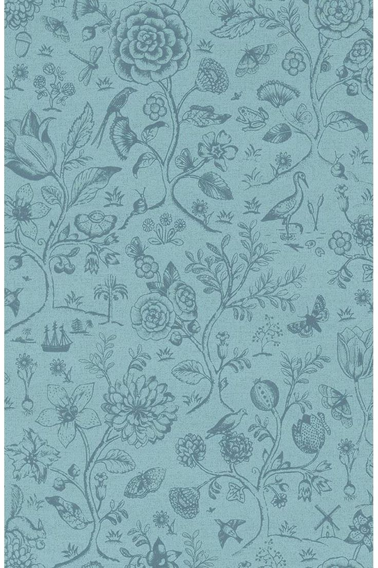 Picture of Spring to Life two tone wallpaper sea blue - PIP Studio