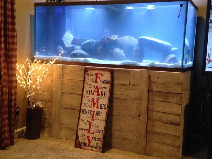Pallet fish tank aquarium stand.