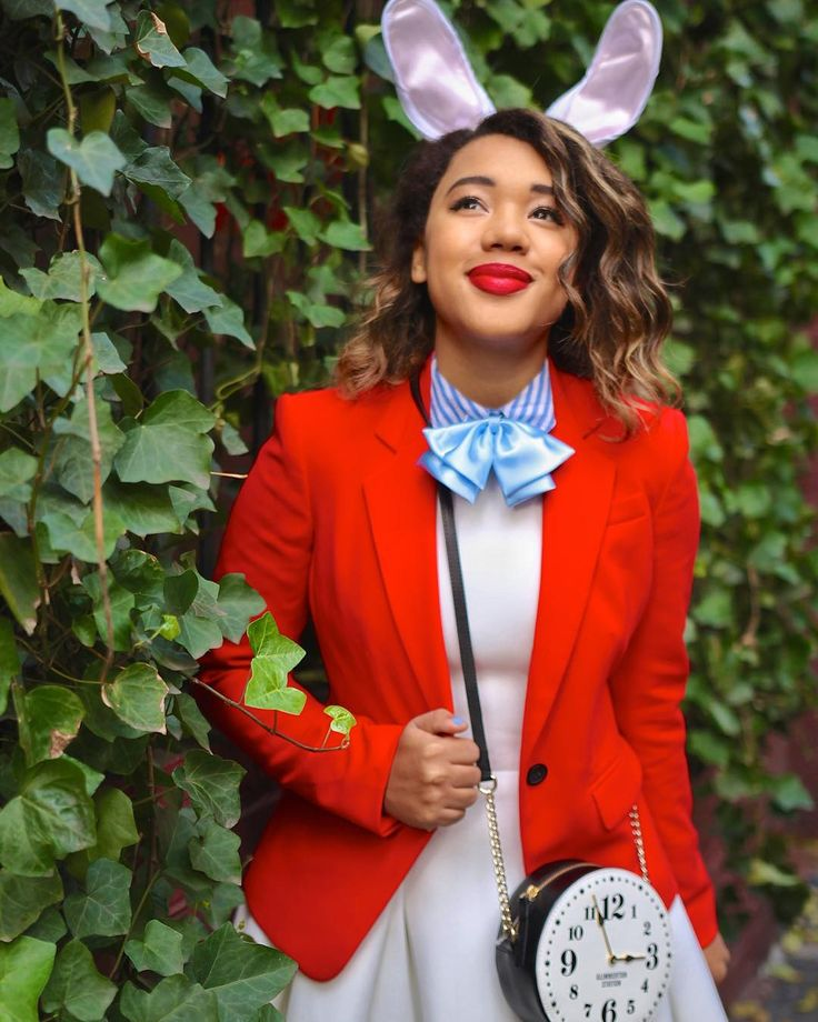 OMG ! You're so totally late  For a very important #colormecoustume date  Venture down the rabbit hole and into wonderland on colormecourtney.com for deets on this @disney #diy white rabbit costume  @liketoknow.it www.liketk.it/1V8Fw #liketkit by colormecourtney