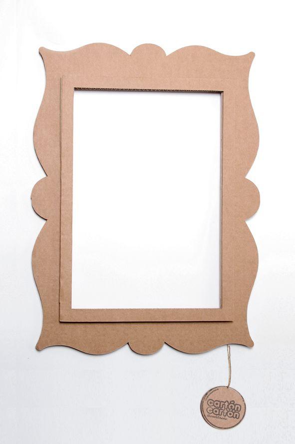 Marco antique en carton dise ado y fabricado en espa a - Hacer marcos para espejos ...