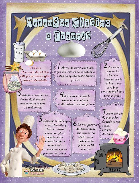Tartas, Galletas Decoradas y Cupcakes: MERENGUE CLÁSICO O FRANCÉS